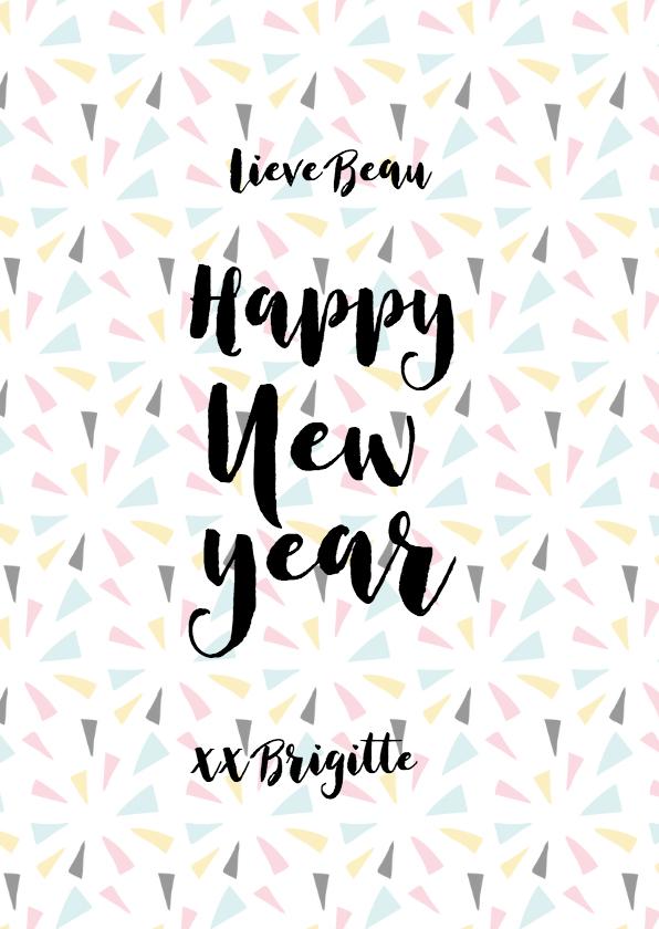 Nieuwjaarskaart 2018 Happy new year 3