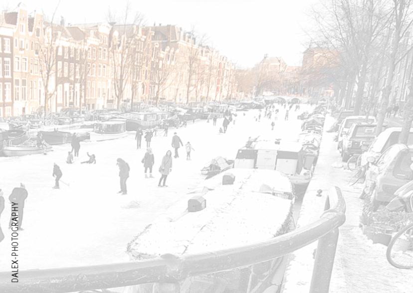 Nieuwjaarskaart- Amsterdam skate 2