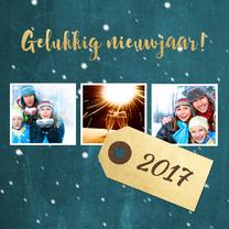 Nieuwjaarskaarten - Nieuwjaarskaart blauw krijt - DH