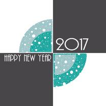 Nieuwjaarskaarten - Nieuwjaarskaart blokken 2017