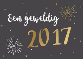 Nieuwjaarskaarten - Nieuwjaarskaart BW 1 - WW