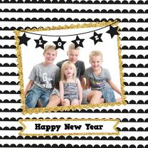 Nieuwjaarskaarten - Nieuwjaarskaart Goud randje