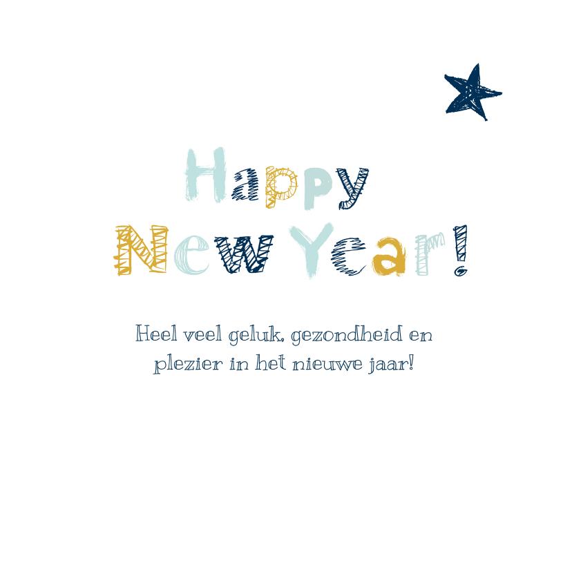 Nieuwjaarskaart handgeschreven letters 3