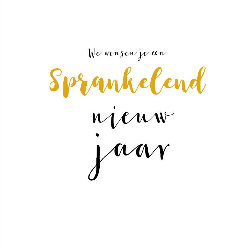 Nieuwjaarskaart Happy New Year 2019 Champagne 3