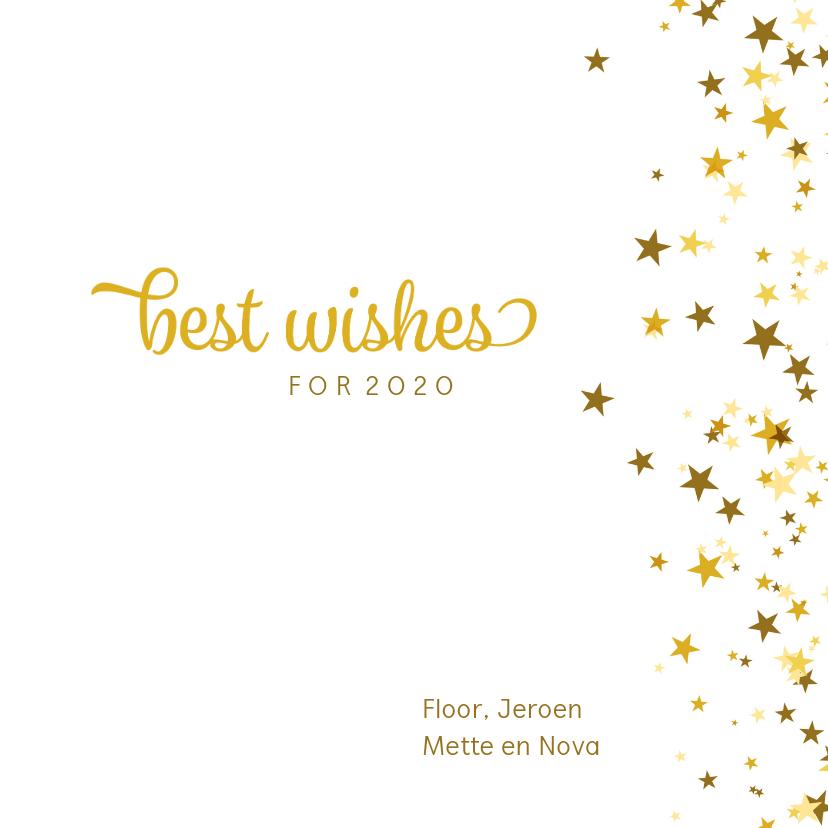 Nieuwjaarskaart happy new year sterren 3
