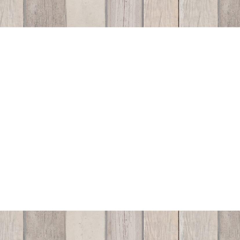 Nieuwjaarskaart hout foto label 2