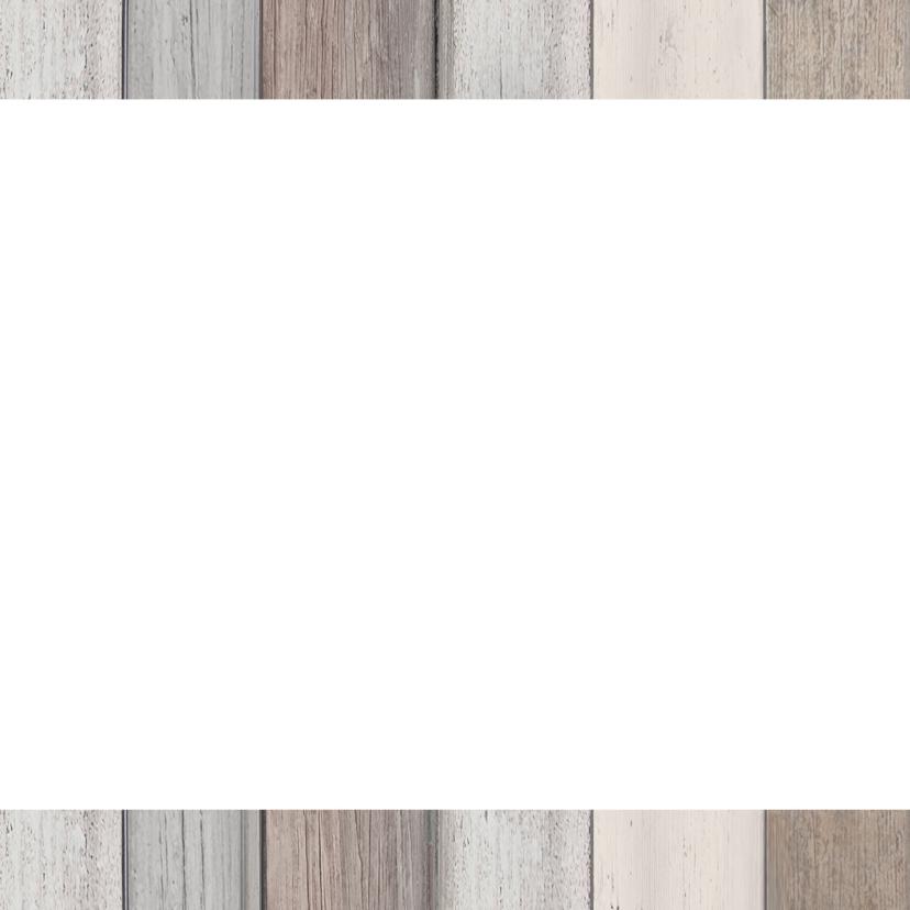 Nieuwjaarskaart hout poststempel 2