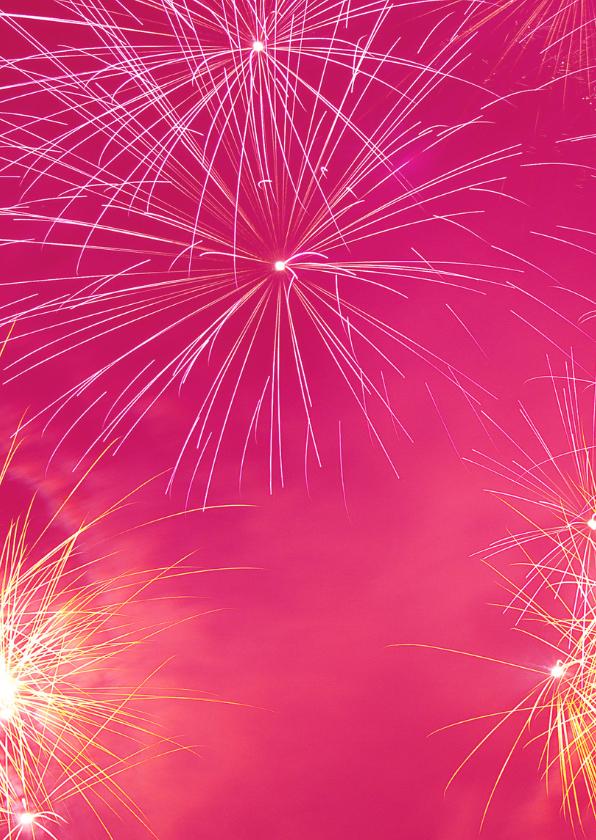 Nieuwjaarskaart met knallend vuurwerk 2