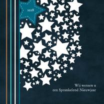 Nieuwjaarskaarten - Nieuwjaarskaart met sterren 83