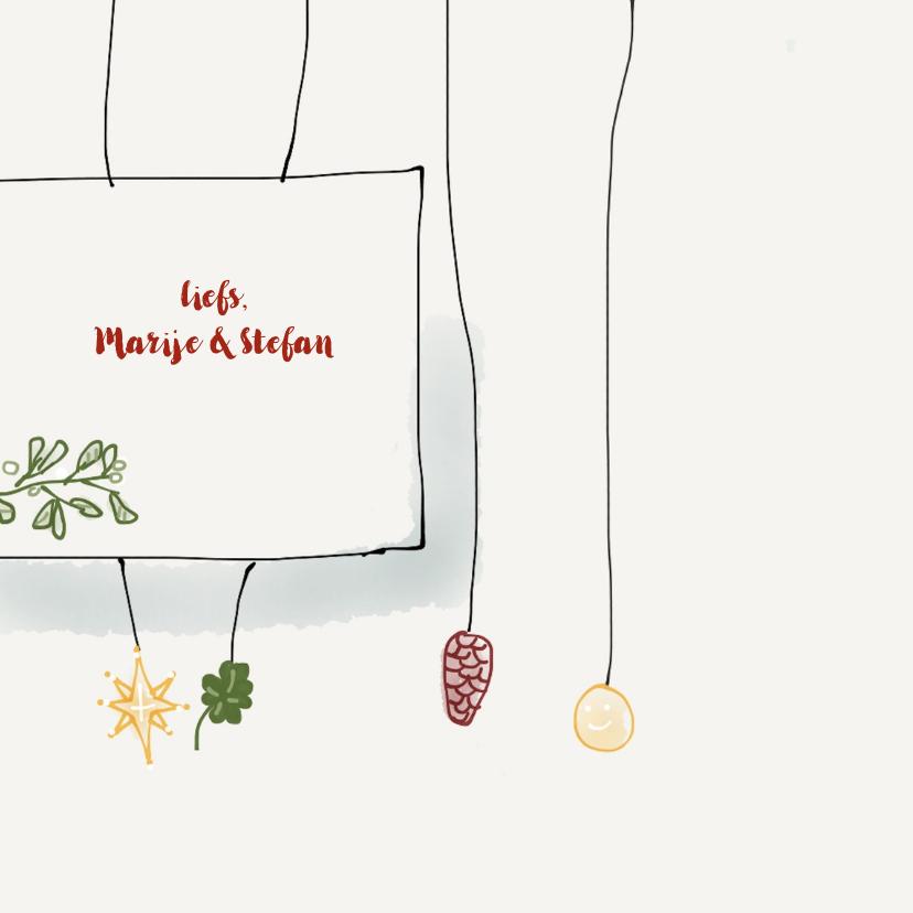 Nieuwjaarskaart Mistletoe 3