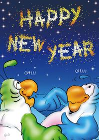 Nieuwjaarskaarten - Nieuwjaarskaart Roco Borrel - RN