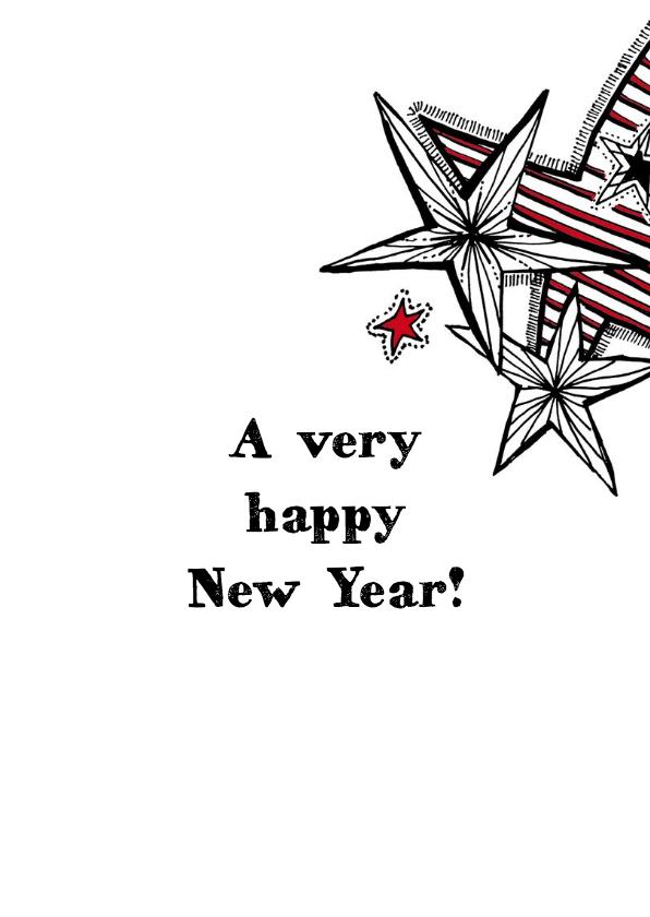 Nieuwjaarskaart sterren in krijt 3