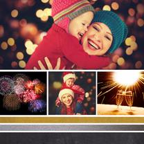 Nieuwjaarskaarten - Nieuwjaarskaart strepen - DH