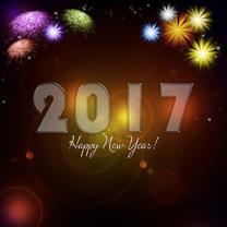 Nieuwjaarskaarten - Nieuwjaarskaart vuurwerk 2017 RB