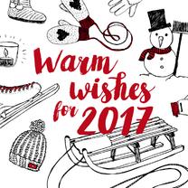 Nieuwjaarskaarten - Nieuwjaarskaart warm wishes