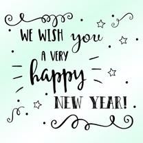 Nieuwjaarskaarten - Nieuwjaarskaart - WW