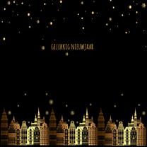 Nieuwjaarskaarten - Nieuwjaarskaart zwart-goud