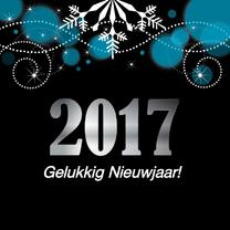 Nieuwjaarskaarten - Nieuwjaarskaart zwart LB05
