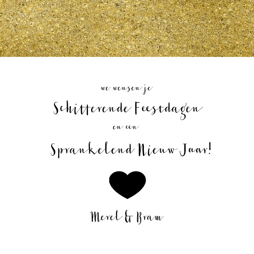 Nieuwjaarskaart zwart wit goud 3