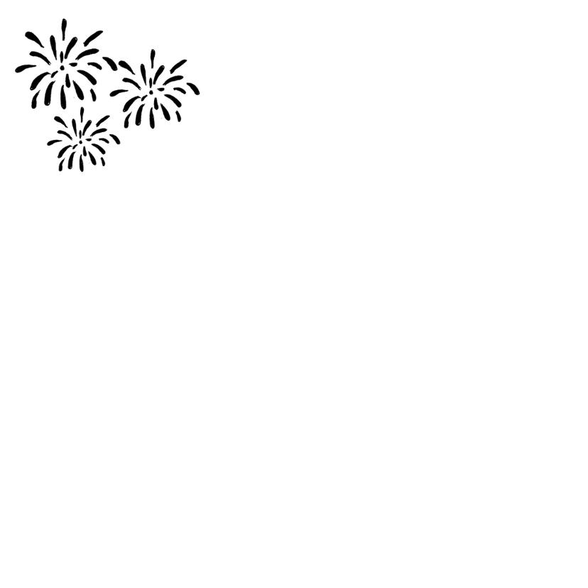 Nieuwjaarskaart zwart-wit 2