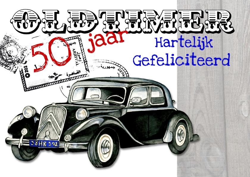 auto 50 jaar oldtimer met auto   Verjaardagskaarten | Kaartje2go auto 50 jaar