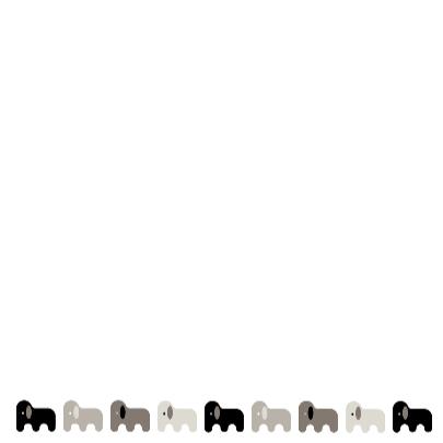 Olifanten in zwart, wit en grijs 3