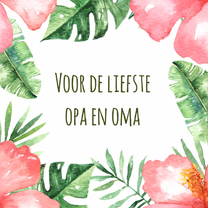 Opa en Omadag-kaart Tropical - WW