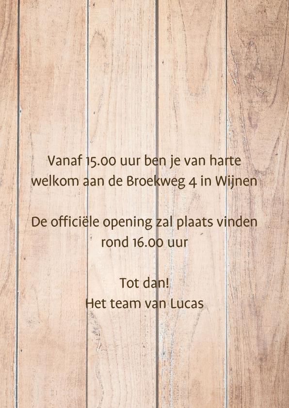 Openingskaart met Steigerhout 3