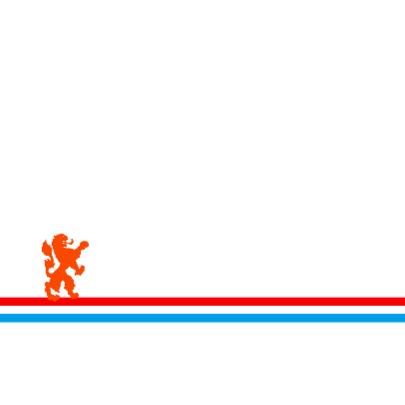 Oranje geboortekaart met de oranje leeuw 2