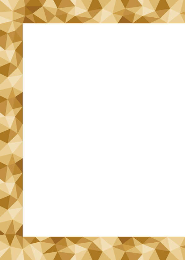Paaskaart met een glanzend gouden low poly paasei 2