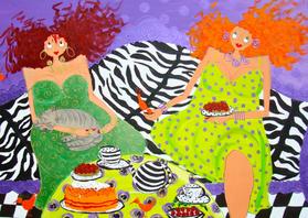 Verjaardagskaarten - Party Girls 1