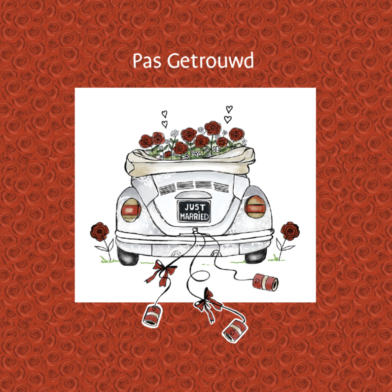afbeelding pas getrouwd Pasgetrouwd kever   Trouwkaarten | Kaartje2go afbeelding pas getrouwd