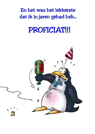 Pinguins verjaardag 1 pinguin met wijn 3