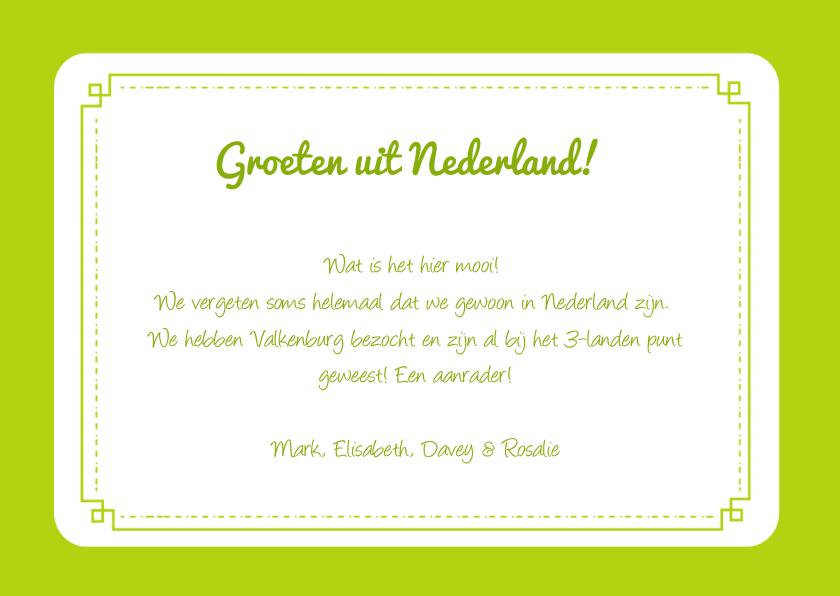 Persoonlijke vakantiekaart NL  3