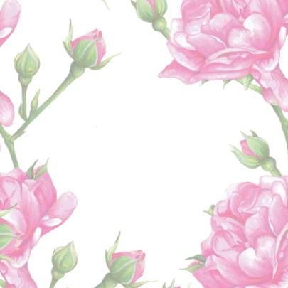 Positieve Kaart Met Roze Rozen 2