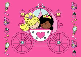 Verjaardagskaarten - Prinsesjes in een koets!