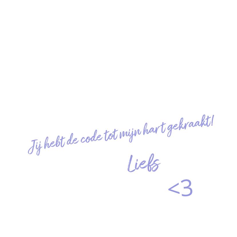 Puzzelkaart Liefde met cijfercode in hartvorm 3