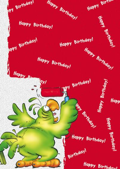 rocco verjaardag 6 papegaai met verf 3