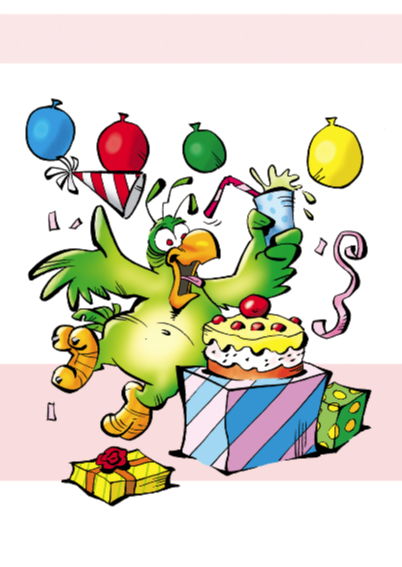 Rocco verjaardag papegaaitje ballon 2