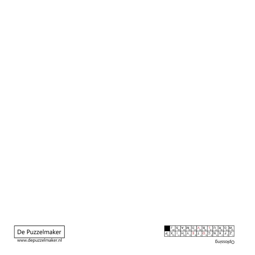 Rode puzzelkaart Liefde met cijfercode in hartvorm 2