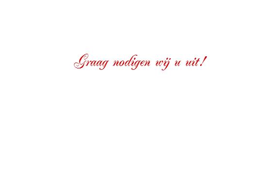 Romantisch Bladerhart trouwkaart 3