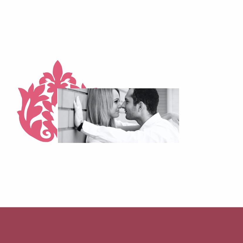 romantisch roze trouwkaart - SZ 2