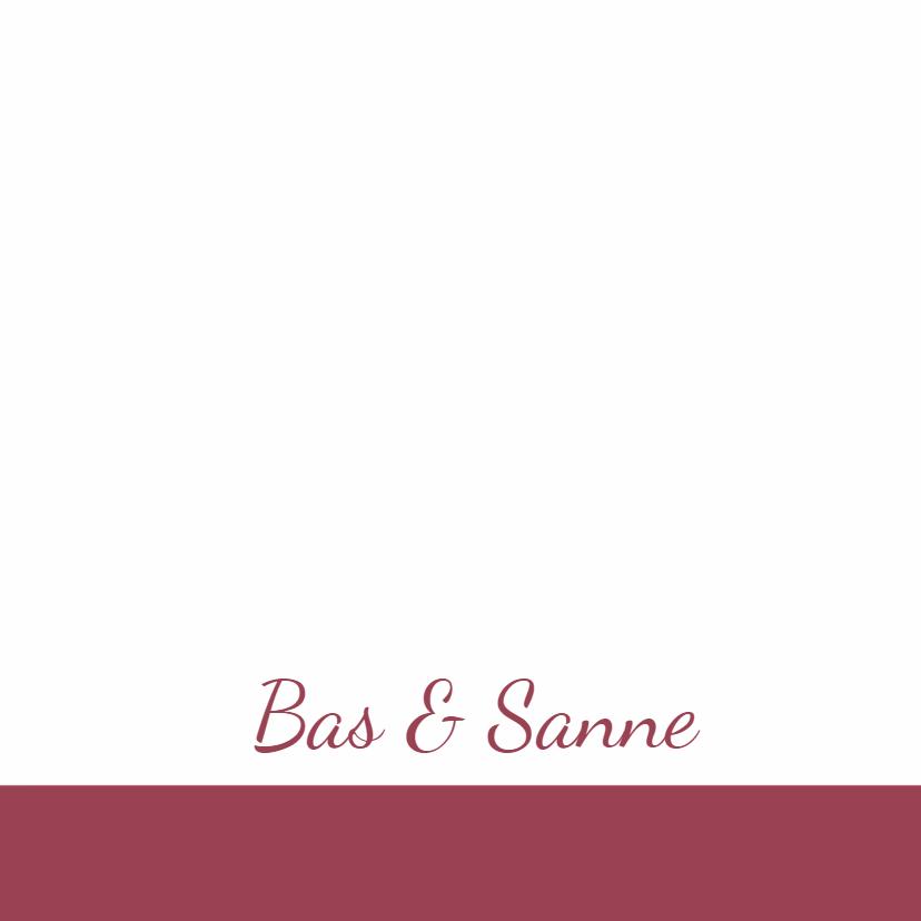 romantisch roze trouwkaart - SZ 3