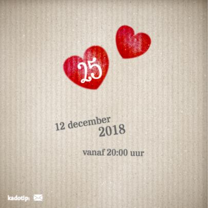Rood hart - 25 jarig huwelijk 2