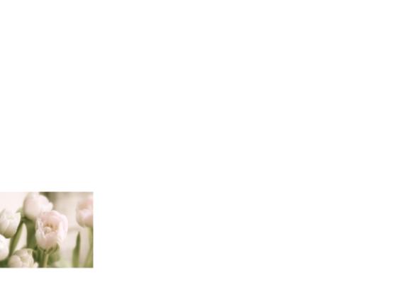 Rouw bedankkaart roze tulp 2