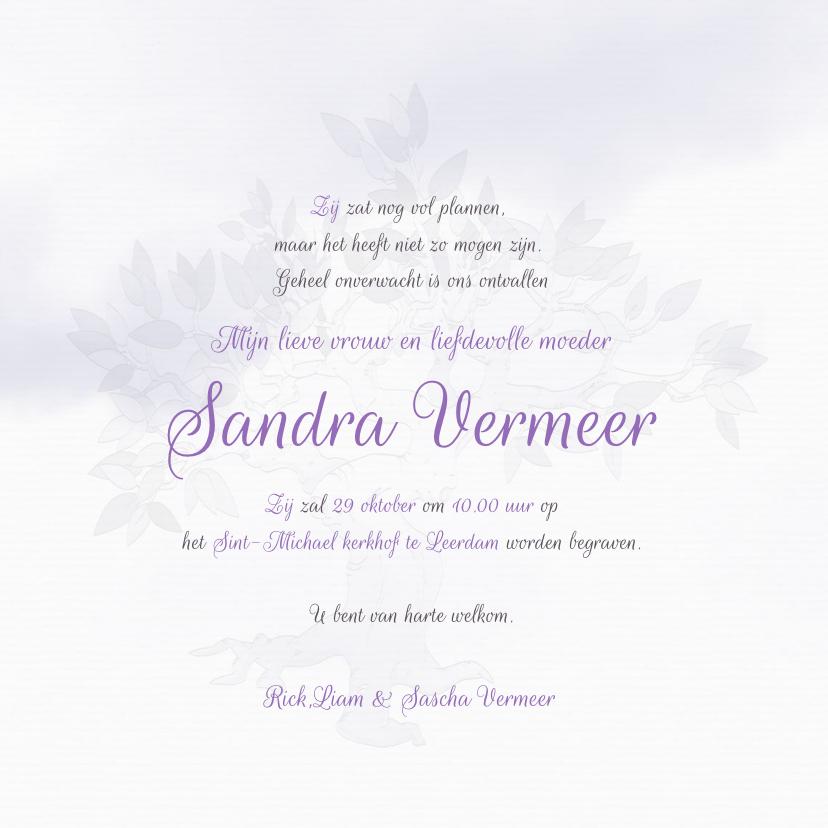 Rouwkaart brief voor mama 3