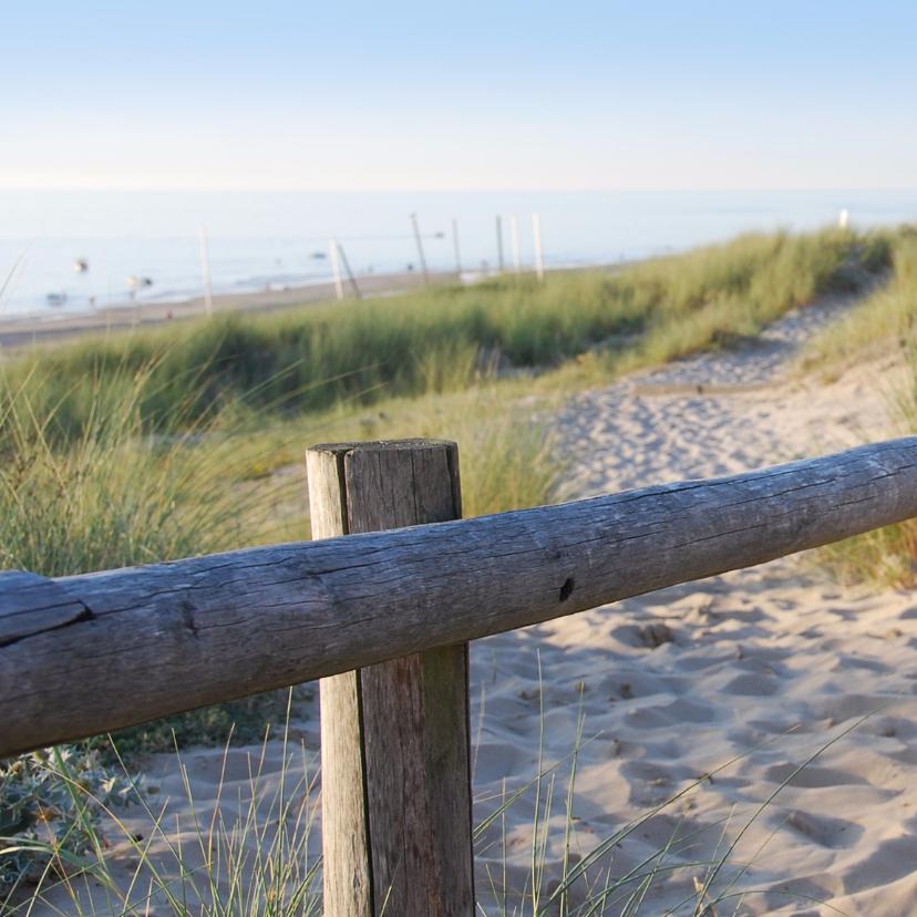 Rouwkaart Duin en strand 2