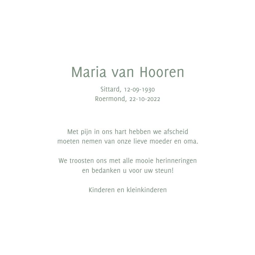 rouwkaart foto hortensia 3