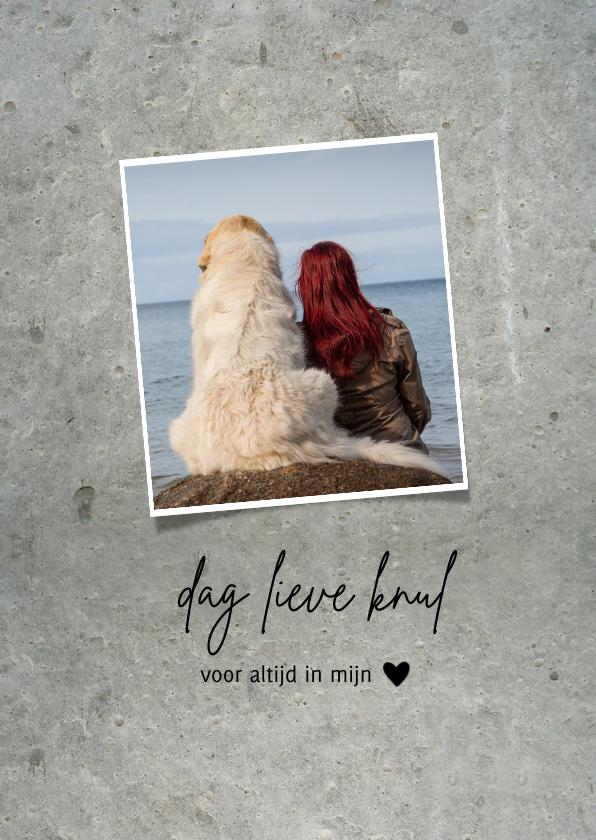 Rouwkaart huisdier - grijs met foto 2