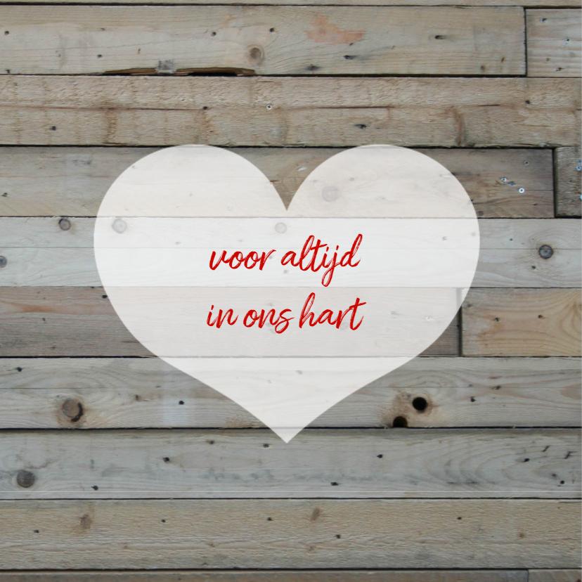 rouwkaart kind hout 2
